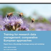 New report on research data management training